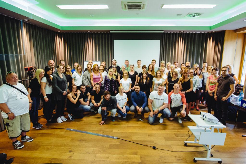 Die Gruppe der letzten 90 Tage Challenge Informationsveranstaltung