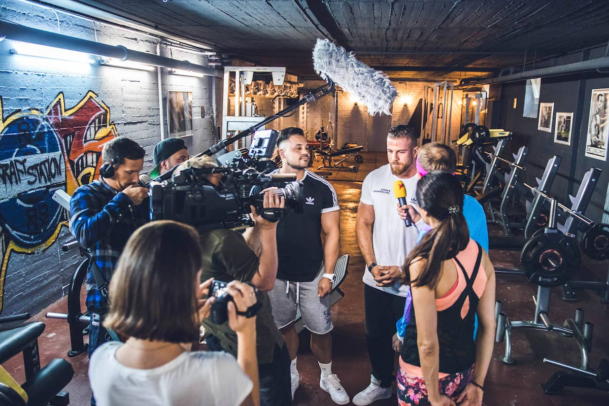 Stern TV bei Körperverwandlung Pilates für Männer