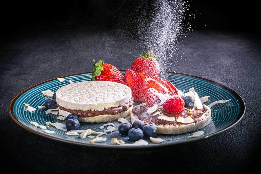 Reiswaffeln mit Protein Schokocreme im Kochbuch von Körperverwandlung