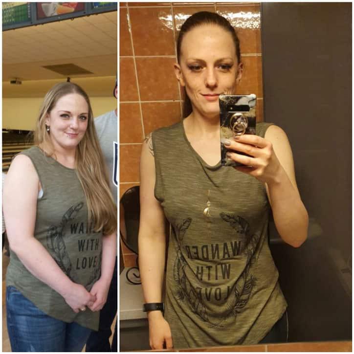 Sabrinas Vorher Nachher Verwandlung minus 27 kg in 6 Monaten
