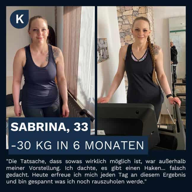 Sabrinas Verwandlung durch die Körperverwandlung